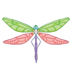 Dragonfly on white background vector