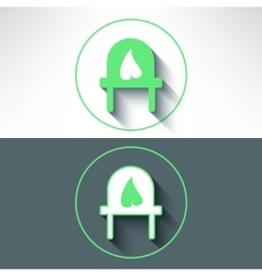 electrical outlet with leaf on it made in vector image vector image