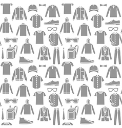 Endless clothes background vector image vector image