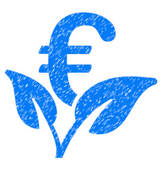 Euro startup sprout grunge icon vector