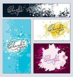 Forms decorated stained paint and ink splashes vector