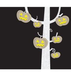 halloween tree silhouette vector image vector image