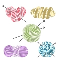 Hand drawn yarn for knitting vector