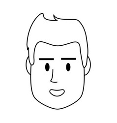 Head of man young man icon image vector
