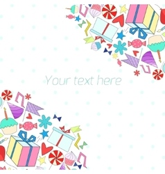 Holiday background with text placeholder vector