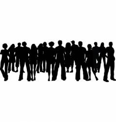 Huge crowd vector