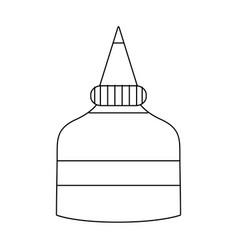 Line glue school tool to education study vector