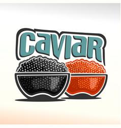 Logo of caviar vector