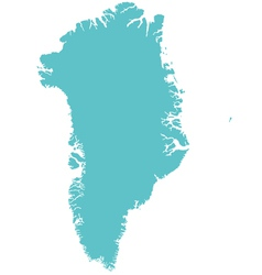 Map of greenland vector