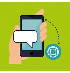 mobile technology design vector image vector image