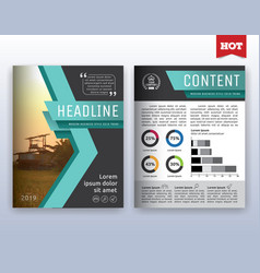 Modern corporate business flyer layout design vector