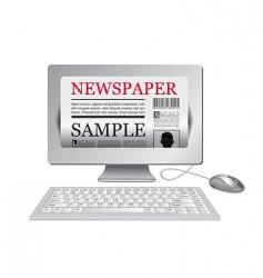 online newspaper vector image vector image