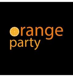 Orange party vector image vector image