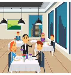 People in Restaurant Restaurant Interior vector image vector image