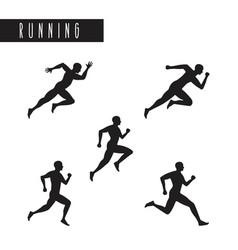 running desig vector image