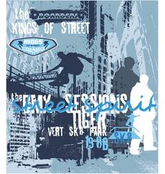 street spirit skater vector image vector image