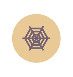 Stylish icon in color circle spider web vector
