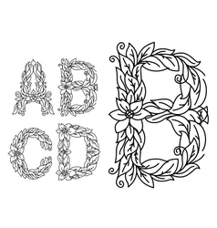 Title letters in floral style vector image vector image
