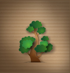 tree paper vector image