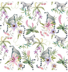 Tropical wildlife pattern vector