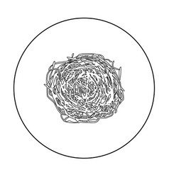 tumbleweed icon outline singe western icon from vector image