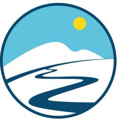 Winter sport logo vector