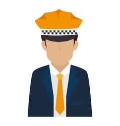 man hat suit tie chauffer vector image