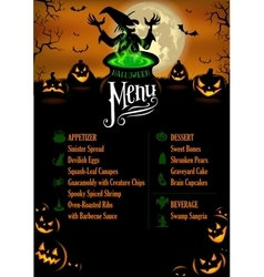 Halloween menu template vector