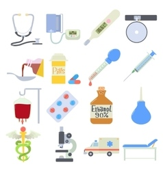 Medical icons set flat style vector