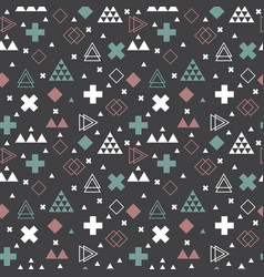 geometric scandinavian seamless pattern tribal vector image
