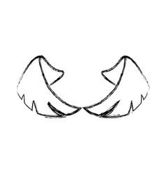 pair of wings vector image