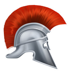 Ancient greek warrior helmet vector