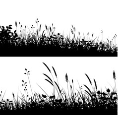 Grassy foregrounds vector