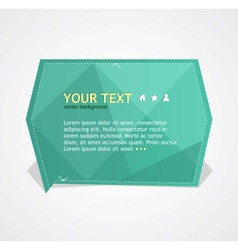 Green text box vector