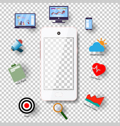 Modern technology communication with the phone on vector