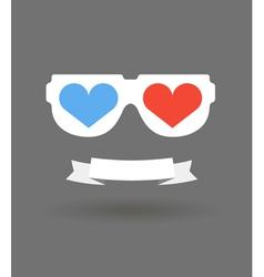 Love glasses vector image