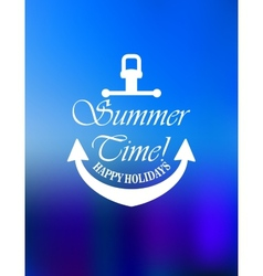 Summer time poster design vector