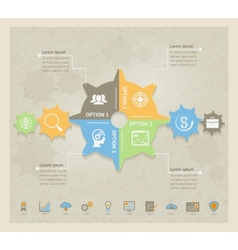Business Concept Gears infographic vector image