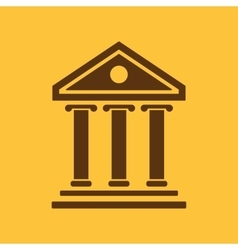 The bank icon building facade symbol flat vector