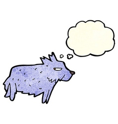 Cartoon terrier with thought bubble vector