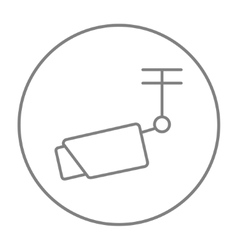 Outdoor surveillance camera line icon vector
