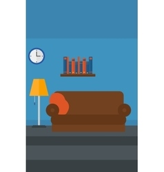 Background of furnished room vector