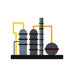 Oil refinery flat icon vector