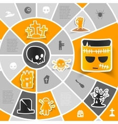 Halloween sticker infographic vector