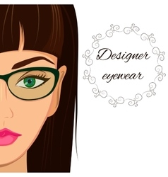 Attractive woman in spectacles optician stylish vector
