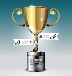 Abstract 3d winner trophy Infographic Design vector image