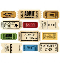admit ticket vector image
