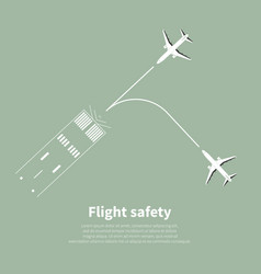 aviation safety vector image vector image