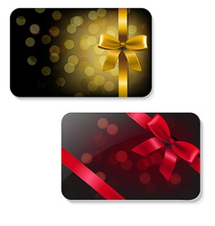 Color Gift Card Set vector image vector image