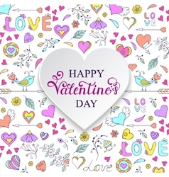 Colorful Valentine s card vector image vector image